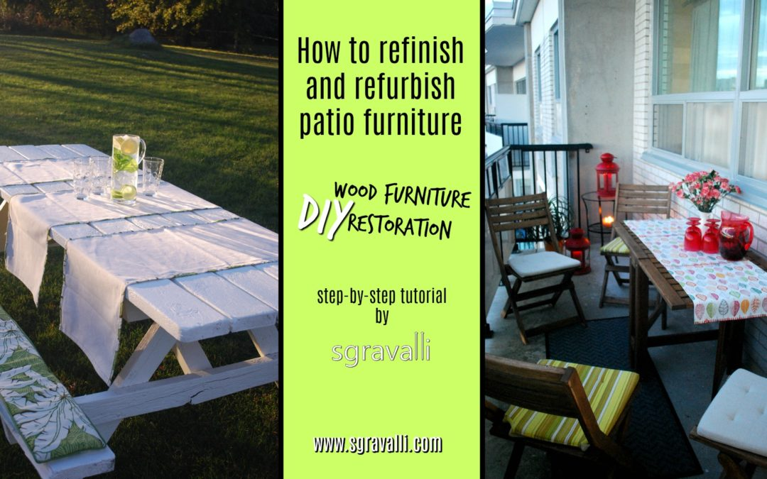 How To Refinish And Refurbish Patio Furniture: DIY Wood Furniture  Restoration Using Paint And Stain